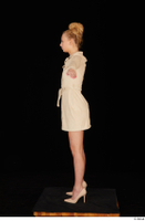Jenny Wild beige dress business dressed high heels standing t poses whole body 0003.jpg