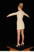 Jenny Wild beige dress business dressed high heels standing t poses whole body 0004.jpg