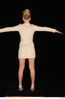 Jenny Wild beige dress business dressed high heels standing t poses whole body 0005.jpg