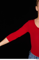 Jenny Wild arm casual dressed long sleeve t shirt red bodysuit upper body 0001.jpg