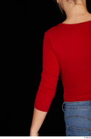 Jenny Wild arm casual dressed long sleeve t shirt red bodysuit upper body 0004.jpg