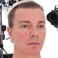 Retopologized 3D Head scan of Ivan Source Images