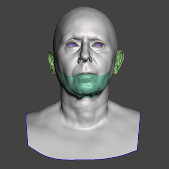 Retopologized 3D Head scan of Alena