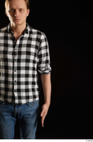 Stanley Johnson  1 arm casual dressed flexing front view shirt 0001.jpg