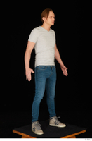 Stanley Johnson casual dressed jeans sneakers standing t shirt whole body 0008.jpg
