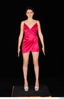 Tiny Tina dressed high heels pink dress standing whole body 0001.jpg
