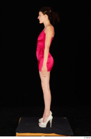 Tiny Tina dressed high heels pink dress standing whole body 0003.jpg