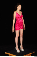 Tiny Tina dressed high heels pink dress standing whole body 0008.jpg