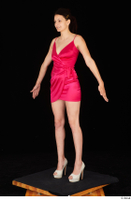 Tiny Tina dressed high heels pink dress standing whole body 0010.jpg