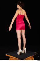 Tiny Tina dressed high heels pink dress standing whole body 0012.jpg