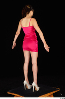 Tiny Tina dressed high heels pink dress standing whole body 0014.jpg