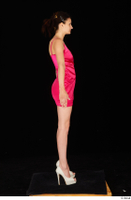 Tiny Tina dressed high heels pink dress standing whole body 0015.jpg