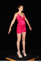 Tiny Tina dressed high heels pink dress standing whole body 0016.jpg