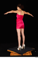 Tiny Tina dressed high heels pink dress standing t poses whole body 0004.jpg