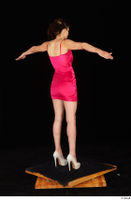 Tiny Tina dressed high heels pink dress standing t poses whole body 0006.jpg
