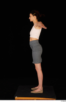 Tiny Tina brown ballerina shoes casual dressed grey skirt pink top standing t poses whole body 0003.jpg