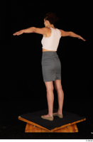Tiny Tina brown ballerina shoes casual dressed grey skirt pink top standing t poses whole body 0004.jpg