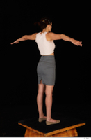 Tiny Tina brown ballerina shoes casual dressed grey skirt pink top standing t poses whole body 0006.jpg