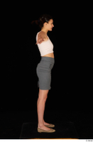 Tiny Tina brown ballerina shoes casual dressed grey skirt pink top standing t poses whole body 0007.jpg