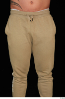 Grigory brown sweatpants dressed sports thigh 0001.jpg