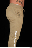Grigory brown sweatpants dressed sports thigh 0007.jpg