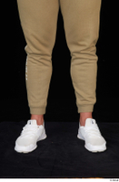 Grigory brown sweatpants calf dressed sports white sneakers 0001.jpg