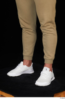 Grigory brown sweatpants calf dressed sports white sneakers 0002.jpg