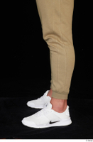 Grigory brown sweatpants calf dressed sports white sneakers 0003.jpg
