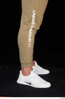 Grigory brown sweatpants calf dressed sports white sneakers 0007.jpg