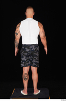 Grigory camo shorts dressed slippers sports standing white tank top whole body 0005.jpg