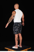 Grigory camo shorts dressed slippers sports standing white tank top whole body 0012.jpg