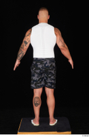 Grigory camo shorts dressed slippers sports standing white tank top whole body 0013.jpg