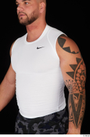 Grigory dressed sports upper body white tank top 0002.jpg