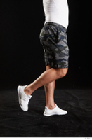 Grigory  1 calf camo shorts dressed side view sports white sneakers 0003.jpg