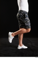 Grigory  1 calf camo shorts dressed side view sports white sneakers 0004.jpg