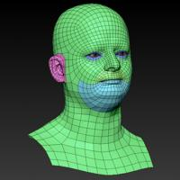 Retopologized 3D Head scan of Michal SubDivision