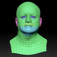 Retopologized 3D Head scan of Hanzal SubDivision
