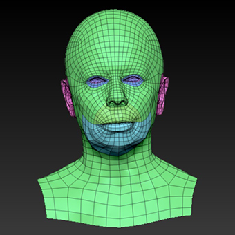 Retopologized 3D Head scan of Galina