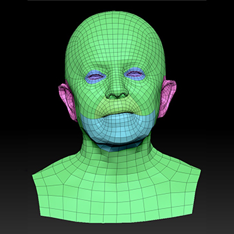 Retopologized 3D Head scan of Ludmila
