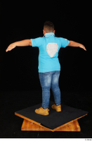 Vano blue t shirt brown workers casual dressed jeans standing t poses whole body 0004.jpg