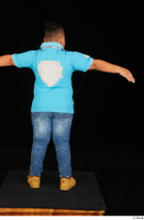 Vano blue t shirt brown workers casual dressed jeans standing t poses whole body 0005.jpg