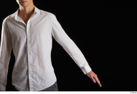 Johnny Reed  1 arm business dressed flexing front view white shirt 0002.jpg