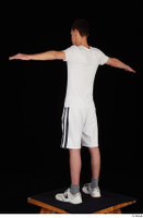 Johnny Reed dressed grey shorts sneakers sports standing t poses white t shirt whole body 0004.jpg