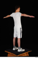 Johnny Reed dressed grey shorts sneakers sports standing t poses white t shirt whole body 0006.jpg