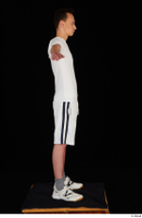 Johnny Reed dressed grey shorts sneakers sports standing t poses white t shirt whole body 0007.jpg
