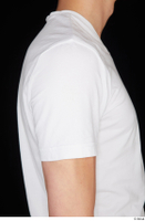 Johnny Reed arm dressed shoulder sports upper body white t shirt 0002.jpg