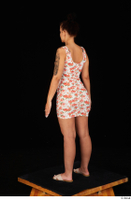 Jennifer Mendez casual dressed floral dress sandals shoes standing whole body 0004.jpg
