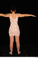 Jennifer Mendez casual dressed floral dress sandals shoes standing t poses whole body 0005.jpg