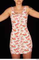 Jennifer Mendez casual dressed floral dress trunk upper body 0001.jpg