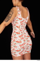 Jennifer Mendez casual dressed floral dress trunk upper body 0004.jpg